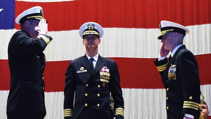 USS Missouri holds change of command ceremony