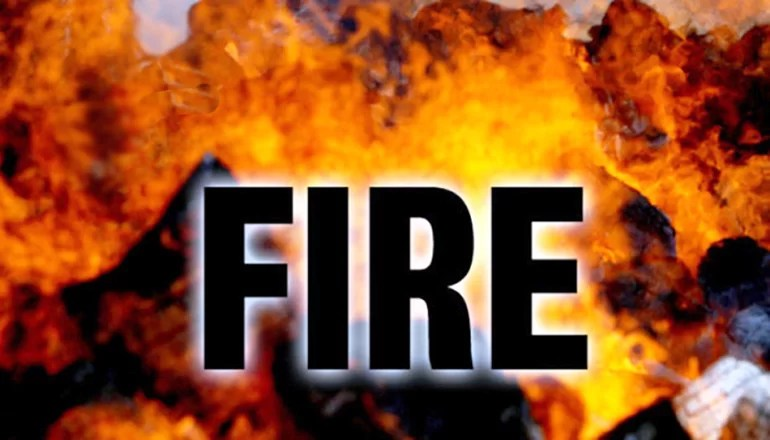 Mercer County Fire Protection District responds to fire in hay field