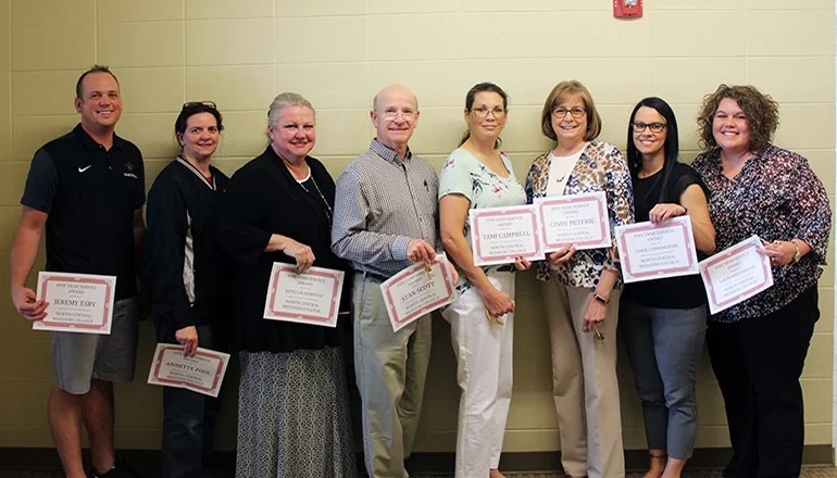 North Central Missouri College recognizes employees with awards
