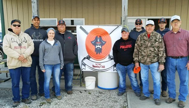 North Central Missouri College Shooting Sports Club hosted their first fundraiser trap shoot. Pictured are members of NCMC Shooting Sports Club and members of the Gun Club.