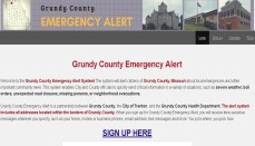 Grundy Missouri Alert Website