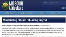 Mo Dairy Scholars Program