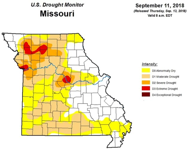 Drought Map September 13, 2018