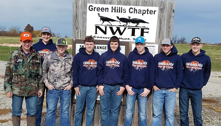 Chillicothe FFA Chapter attends trap shoot in Trenton