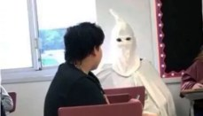 Student dressed as Klansman