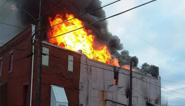 Fire destroys multiple buildings in downtown Trenton