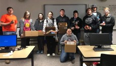 NCMC students in Missie Cotton's Microcomputer Applications classes recently donated non-perishable items to the Grundy County Food Pantry, or other local food pantries. Pictured is Mrs. Cotton's class with their items.