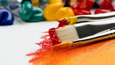 Paint and Paintbrushes for Art