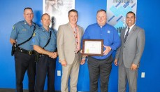 Ryan Johnson presented Honorary Missouri State Highway Patrol Certficate