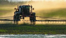 Farmer Spraying Crops (Can be used for Dicamba articles)