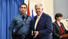 Trooper Matthew Neely awarded Medal of Valor by Governor Parson