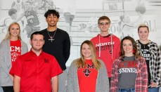 (L to R) Back: Chasidy Finney, Gregoor Moesker, Tyler Kidd, Annaliese Riley. Front: Andrew George, Brooke Leeper, Katie Adison. Not pictured Cash Miller