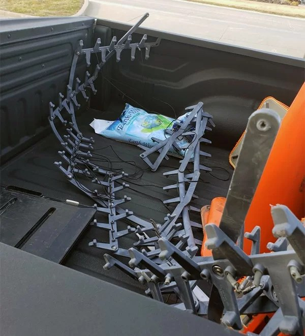 Mangled spike strips used to assist in stopping pursuit