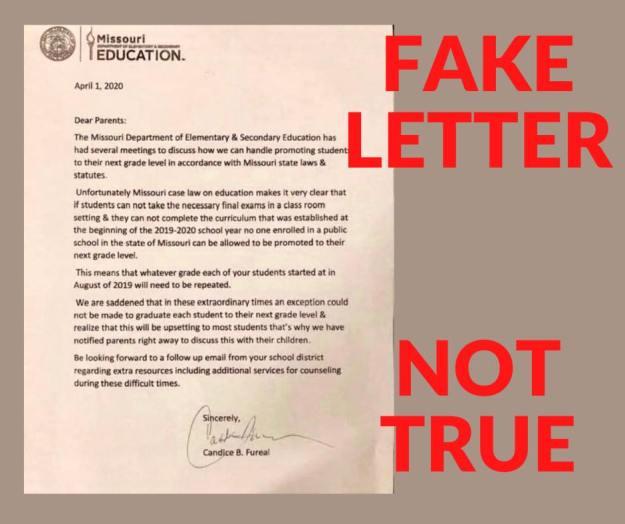 Fake letter