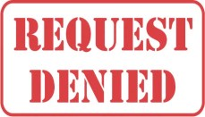Request Denied sign