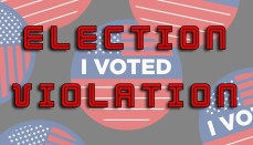 Election Violation News Graphic