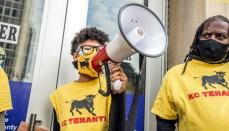 KC Tenants protest at eviction hearings