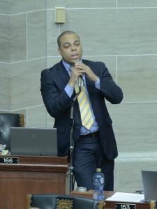 Michael Butler (D-St. Louis) photo courtesy; Tim Bommel, Missouri House Communications)