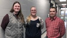 (L-R): Abigail Neill, Morrissa Henley and Calvin Basham