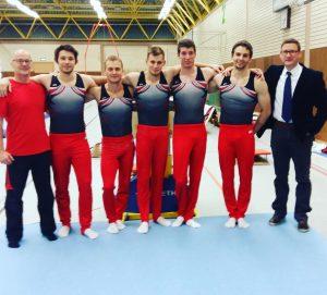 Das Team des ersten Wettkampfes (von links): Hansi Buchmann, Till Wettlaufer, Yves Matthess, Alexey Bogdanov, Bene Hofner, Sven Wallbaum, Rico Moser