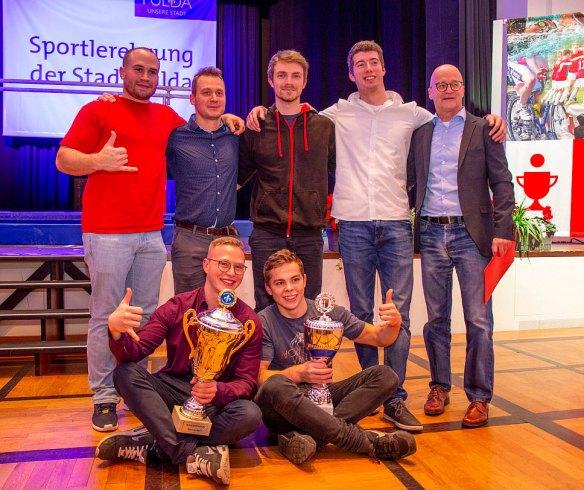 Mannschaftsbild der Siegermannschaft der Sportlerwahl 2019 in Fulda. Sieger ist die KTV Fulda.