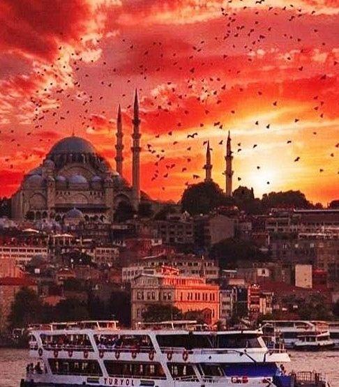 İstanbulda gün batımı