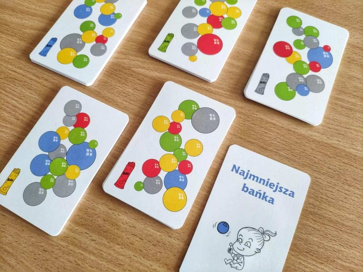 Karty z gry Szybkie bańki
