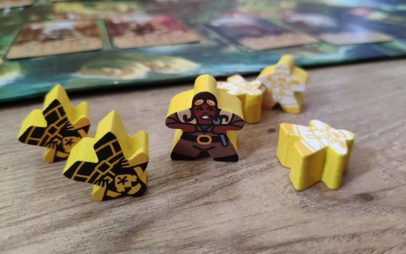 Pionki z gry Quetzal