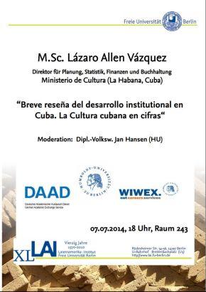 Vortrag Lázaro Allen Vásquez & Jesús Ìrsula Peña