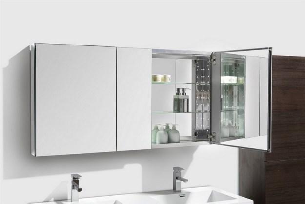 "50"" wide mirrored bathroom medicine cabinet"