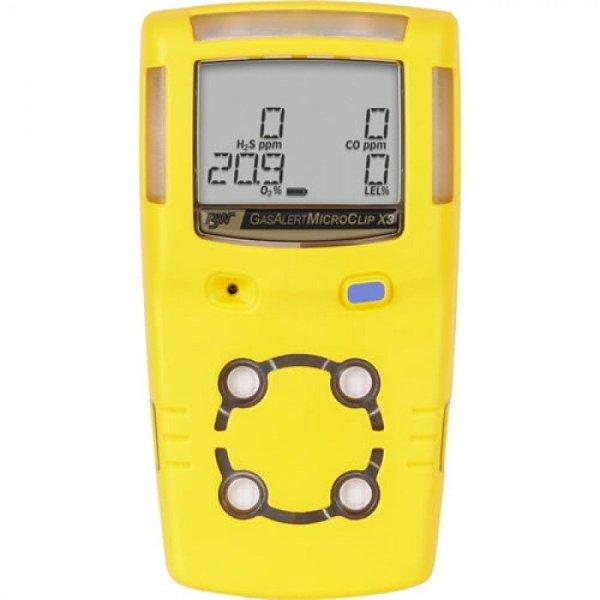 BW Technologies GasAlert MicroClip X3 [MCX3-XWHM-Y-NA] 4-Gas Detector, %LEL, O2, H2S, CO