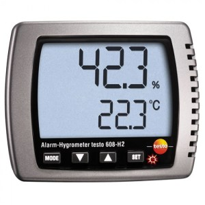 Testo 608-H2 [0560 6082] Large Display Temperature, Humidity And Precise Alarm ThermoHygrometer