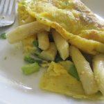 Omlet.Śniadanie ze… szparagami.
