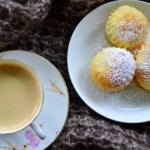 Za mgłą…Pieczone ravioli z ricottą i kandyzowanymi owocami