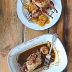 Przepiórki pieczone faszerowane figami w rumie i karmelizowany pasternak. Odwołuję zimę!