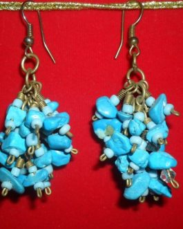 Light Blue Colour Pearl Ear Rings
