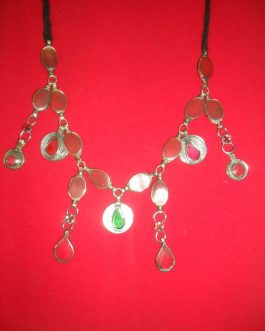 Gemstone & Coins kuchi Necklaces