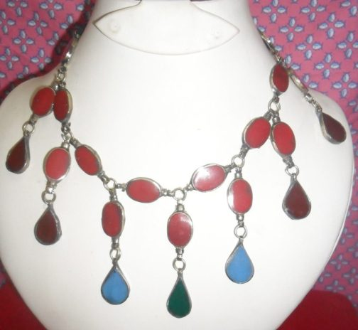 Multi gemstone Kuchi Necklace