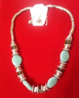 Antique Design Necklace with Ear Rings