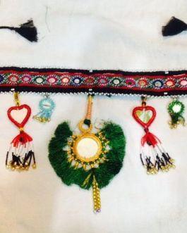 Turkmen Handmade Belts with Single Fabric Flower