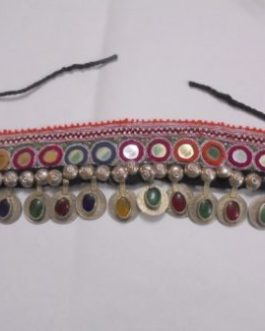 Old Coins and Crystal Gem Head Piece