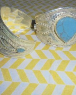 Turquoise Heart Shape Cuff