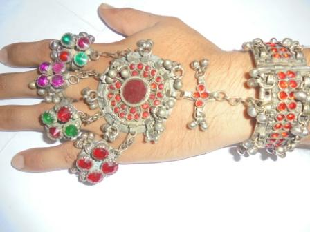 Vintage Fingers Rings with Cuff