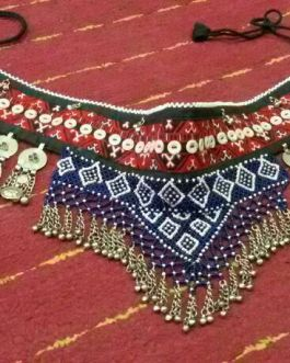 Nice Bells & Pearls Fabric Belt