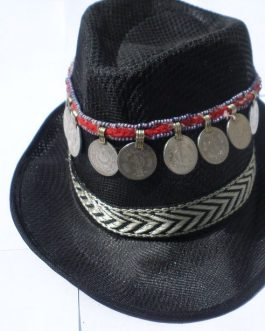 Cowboy Tribal Black Hat