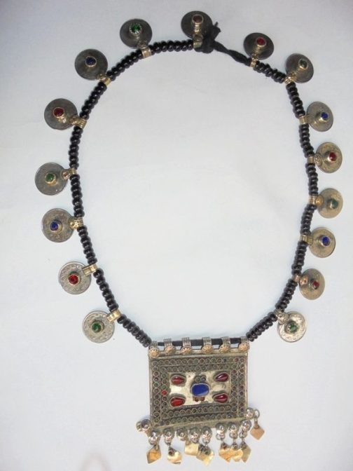 Pendant & Crystal Coins Necklace