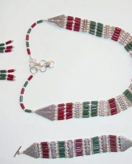 Necklace Set (Necklace+Bracelet+Ear Ring) -IN