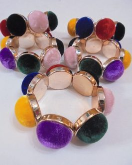 Adjustable Large Velvet Beads Bracelet