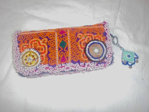 Tribal Pouch With Inner Size Zip & 6 Pockets