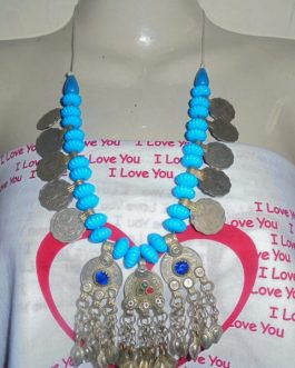 Metal & Turquoise Necklace